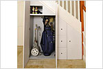 Golf club storage